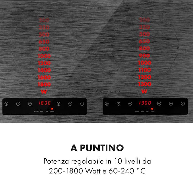Varicook Steel piano cottura a induzione 3100W 10 livelli sensore pentola