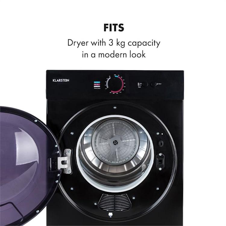 Jet Set, sušička prádla, 1020 W, energetická třída C, 3 kg, 50 cm, černá Černá