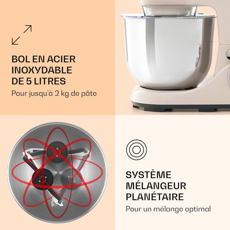 Bella Pico 2G Robot de cuisine 5 litres 6 vitesses  1200W - crème Crème