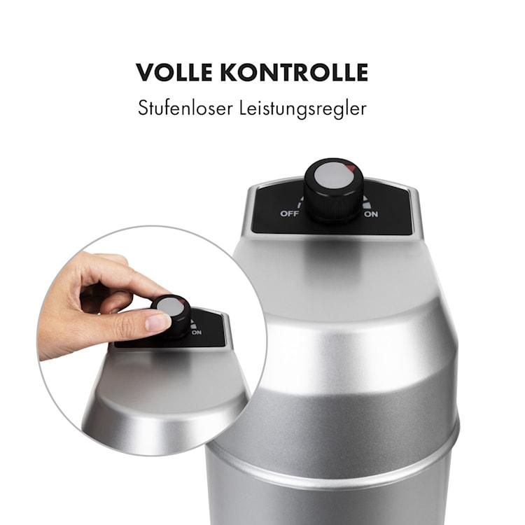 Kraftprotz Milchshake-Mixer Proteinshake 300W stufenlos Edelstahl silber