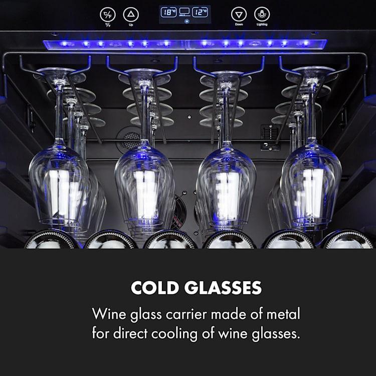 Vinovilla 127 Großraum-Weinkühlschrank 331L 127 Fl. LED Glastür Edelstahl 331 Liter   1 Kühlzone