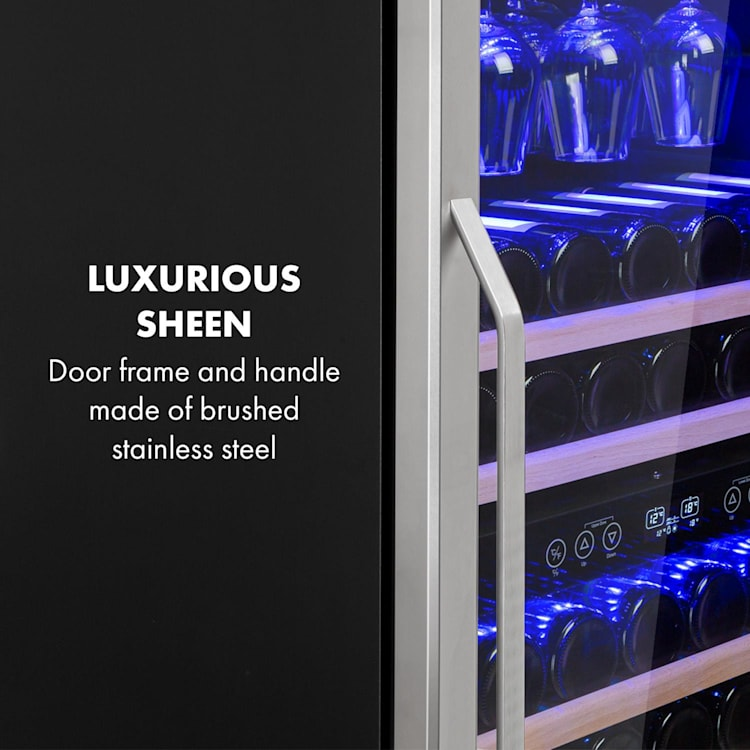 Vinovilla 116D Frigo per Vini 313L 116 Bottiglie Acciaio Inox 313 litri   2 zone di raffreddamento