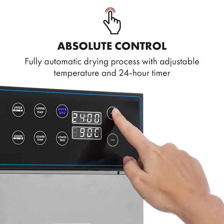 Master Jerky 300 Deshidratador 2000W 40-90 °C temporizador 24h acero inoxidable color plateado 20 bandejas