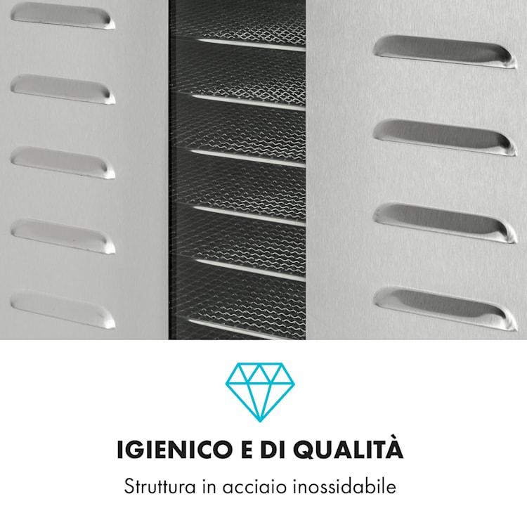Master Jerky 550 essiccatore 2400W 40-90 °C timer 24 ore acciaio inox argento 36 scomparti