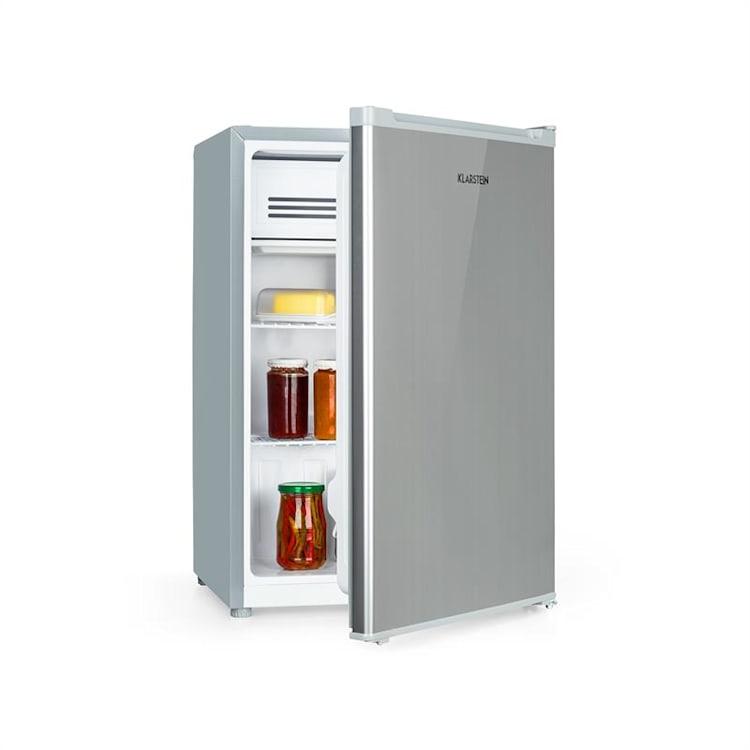 Delaware Réfrigérateur 76 litres / congélateur 4 litres A++  - Gris Gris Argent