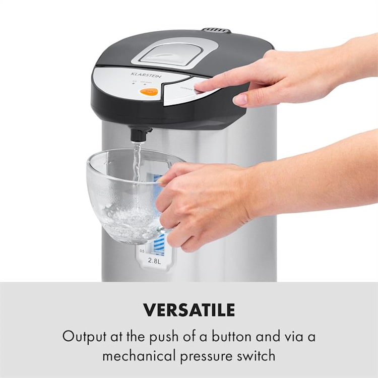 Hot Spring Dispensador de agua caliente 2,8l Depósito Acero Inoxidable Plateado 2,8 L