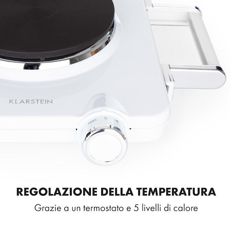 Cookorama piano cottura doppio 1900-2250 W 150/180 mm Ø 5 livelli bianco Bianco