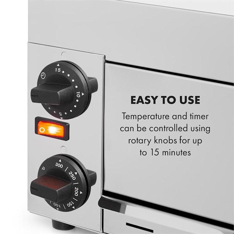 Vesuvio Pizza Oven Gastro 1 Chamber 1130W 300 ° C Timer Stainless Steel Silver 1 comparment