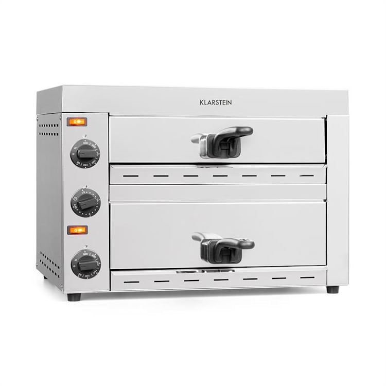 Vesuvio II Pizza Oven Gastro 2 Chambers 2260W 300 ° C Timer Stainless Steel Silver 2 compartments