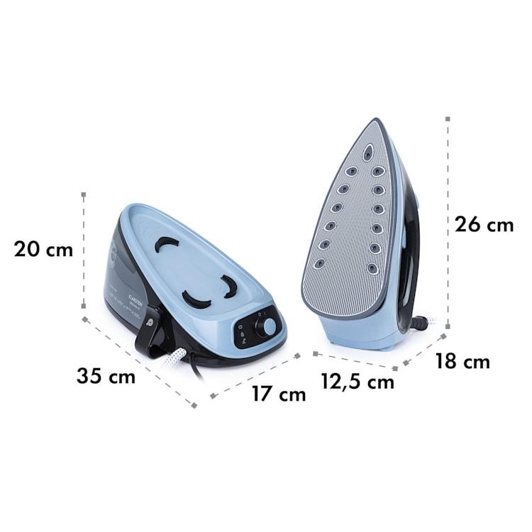 Speed Iron V2, żelazko parowe, 2100 W, 1100 ml, EasyGlide, czarne / niebieskie Czarny / Niebieski
