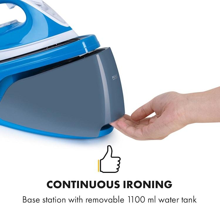 Speed Iron V2 Fer à repasser à vapeur 2100 W 1100 ml blanc / bleu Blanc / Bleu