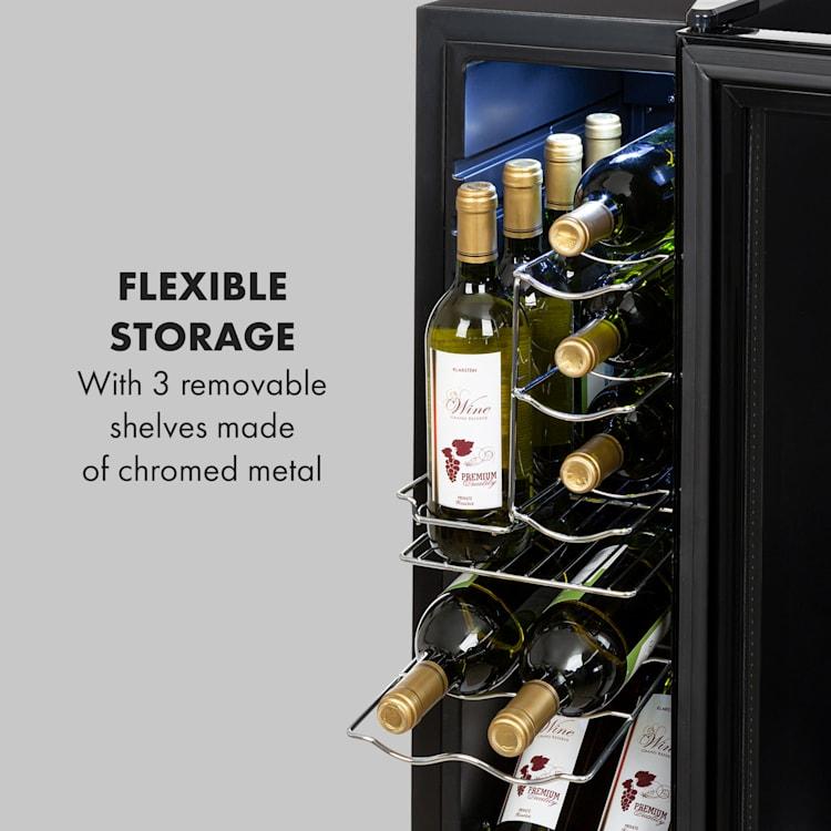 Shiraz 12 Slim vinkylskåp 32l/12 flaskor touch-panel 85W 5-18°C 32 liter/12 flaskor