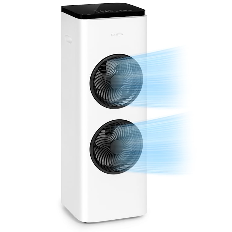 Windsurfer, chladič vzduchu, 80 W, 8hod. časovač, dálkové ovládání, bílý Bílá