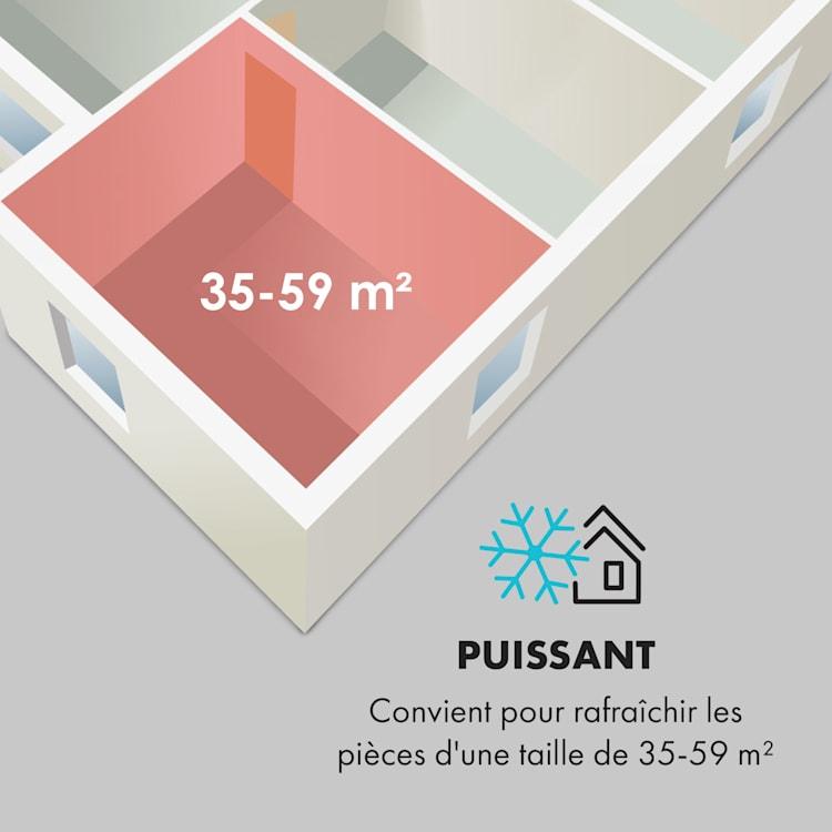 Iceblock Prosmart 12 climatiseur mobile 12000 BTU/3,5 kW blanc 12.000 BTU