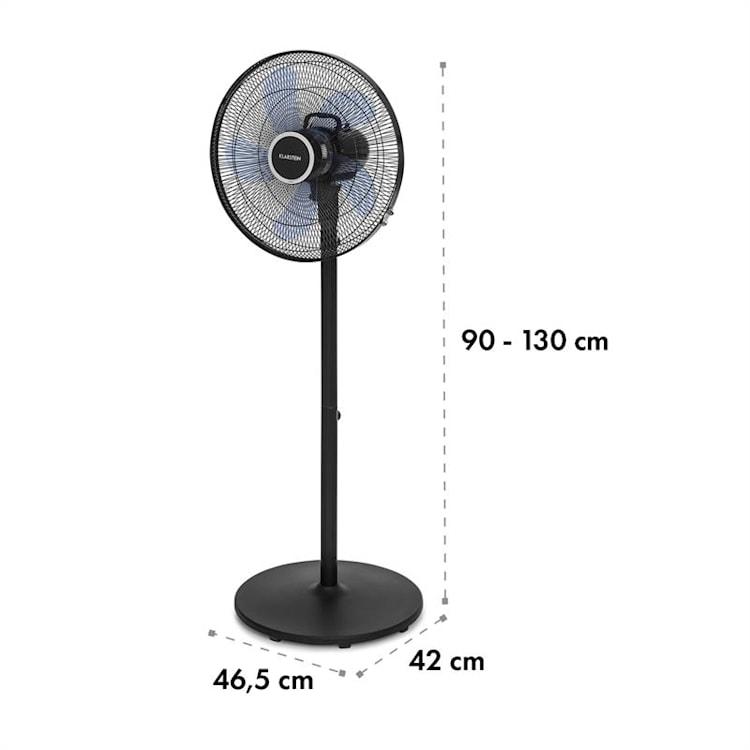 """Windflower, wentylator stojący, 5-łopatkowy, (15""""/38,5cm) 50W, czarny Czarny"""