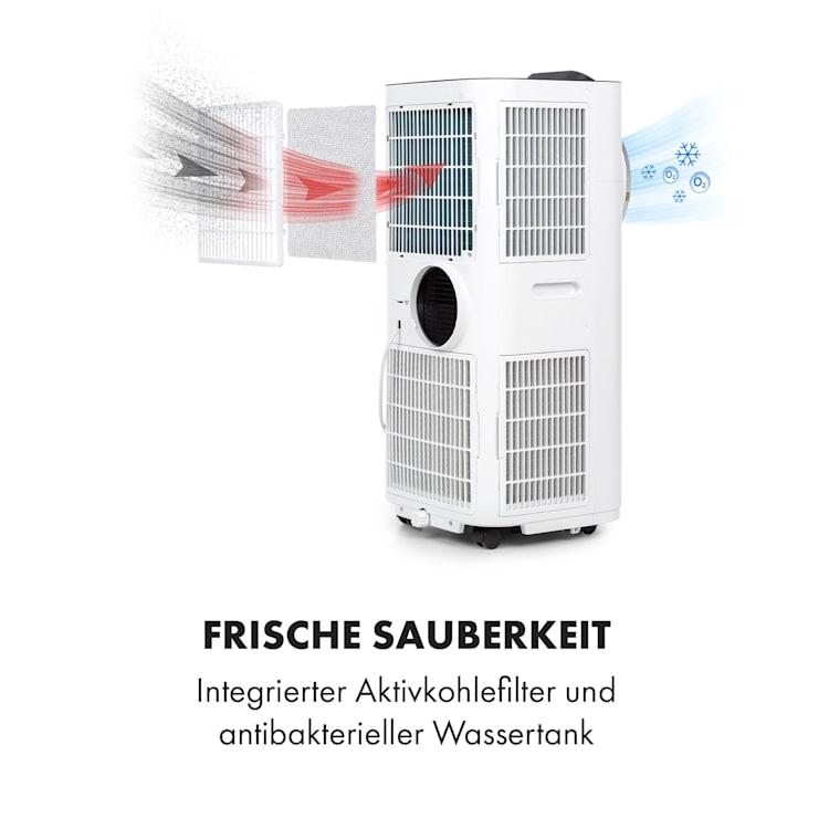 Kraftwerk Smart 12K mobile Klimaanlage 12.000 BTU/3,5 kW App-Steuerung Fernbedienung weiß Weiß   12.000 BTU