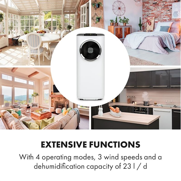Kraftwerk Smart 12K, klimatizace, 3 v 1, 12 000 BTU, ovládání přes aplikaci, bílá Bílá | 12.000 BTU