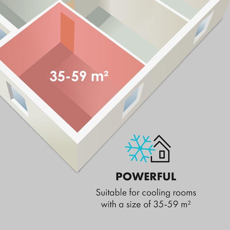 Kraftwerk Smart 12K, légkondicionáló, 12 000 BTU, irányítás alkalmazás által, antracit Antracit | 12.000 BTU