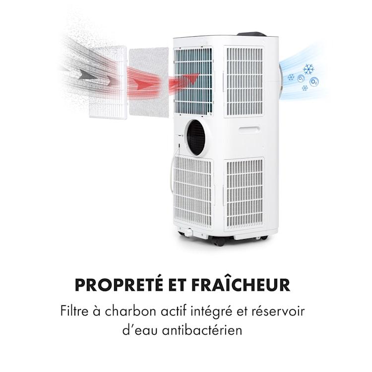 Kraftwerk Smart 10K climatiseur mobile 10000 BTU/2,9 kW blanc Blanc   10.000 BTU