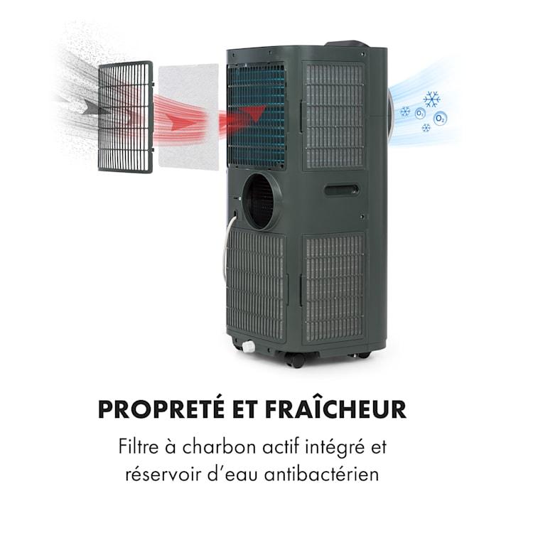 Kraftwerk Smart 10K climatiseur mobile 10000 BTU/2,9 kW anthracite Anthracite | 10.000 BTU