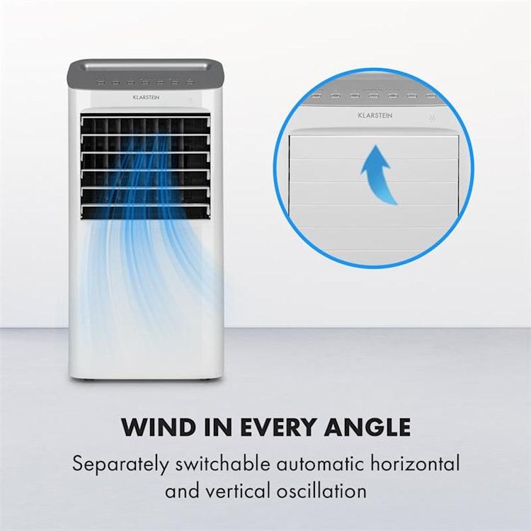 Coldplayer, chladič vzduchu, 4 v 1, 68 W, 384 m³ / h, 4 úrovně proudění vzduchu, bílý Bílá
