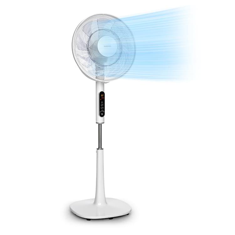 "Sommerwind staande ventilator 16"" 35W DC motor 5544 m³/h oscillatie wit Wit"