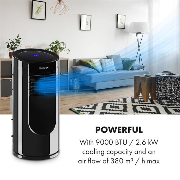 Metrobreeze Miami, mobil légkondicionáló, 9000 BTU/2,6 kW, 950 W, fekete Fekete