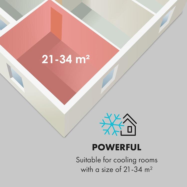 Metrobreeze New York 7k, mobil légkondicionáló, 2,05 kW, 7000 BTU, EEC A, fehér Fehér | 7.000 BTU