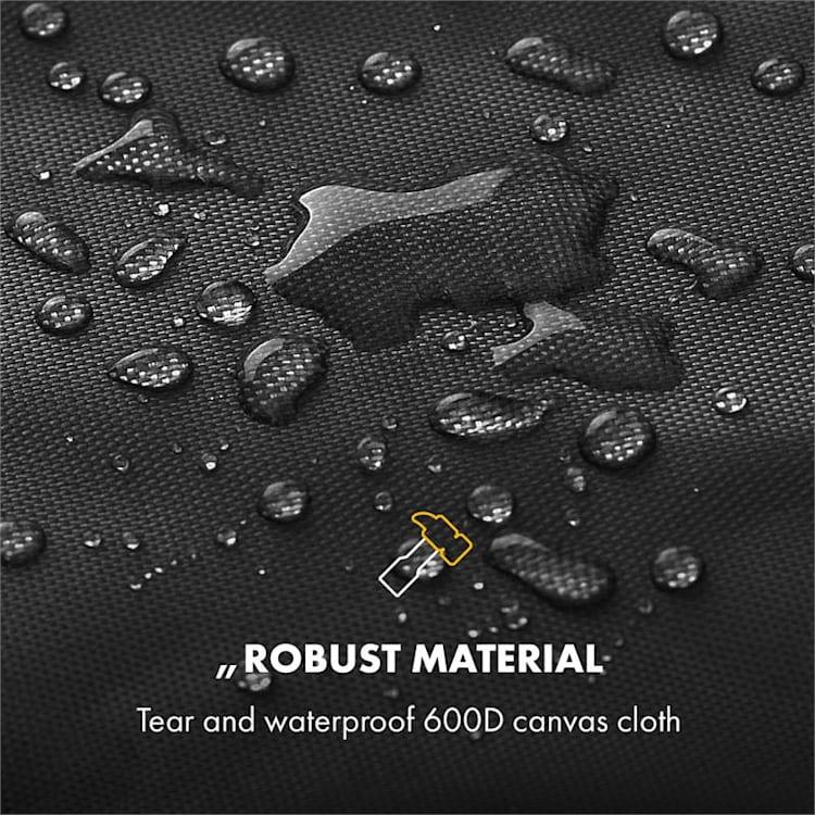 Tomahawk Wetterschutzhaube 600D Canvas 30/70% PE/PVC schwarz