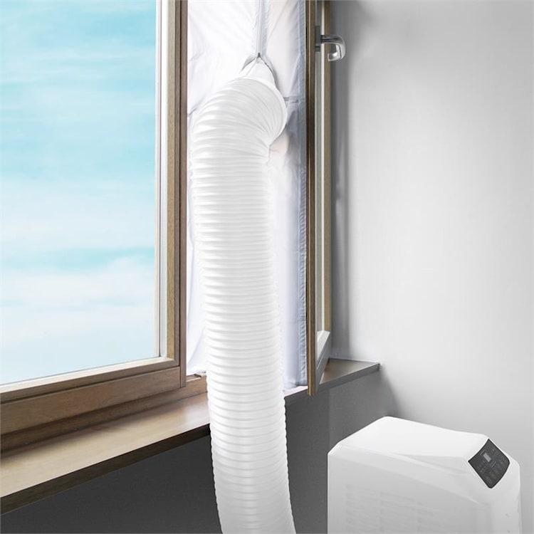 Window Sealing Set 3.9 m Zipper Velcro White