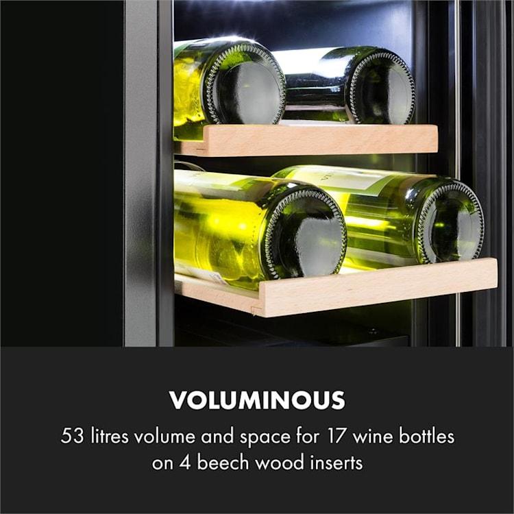 Vinovilla 17, dvouzónová vinotéka, 53 l, 17 lahví, 3 barvy,bílá Bílá
