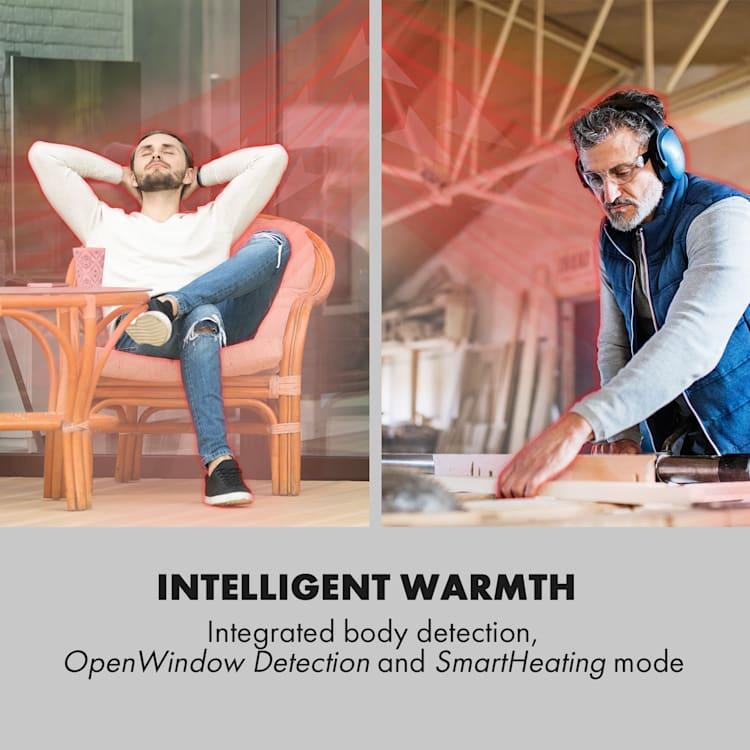 Smartwave, infracrvena grijalica, 2400 W, WiFi, upravljanje putem aplikacije, crna Crna