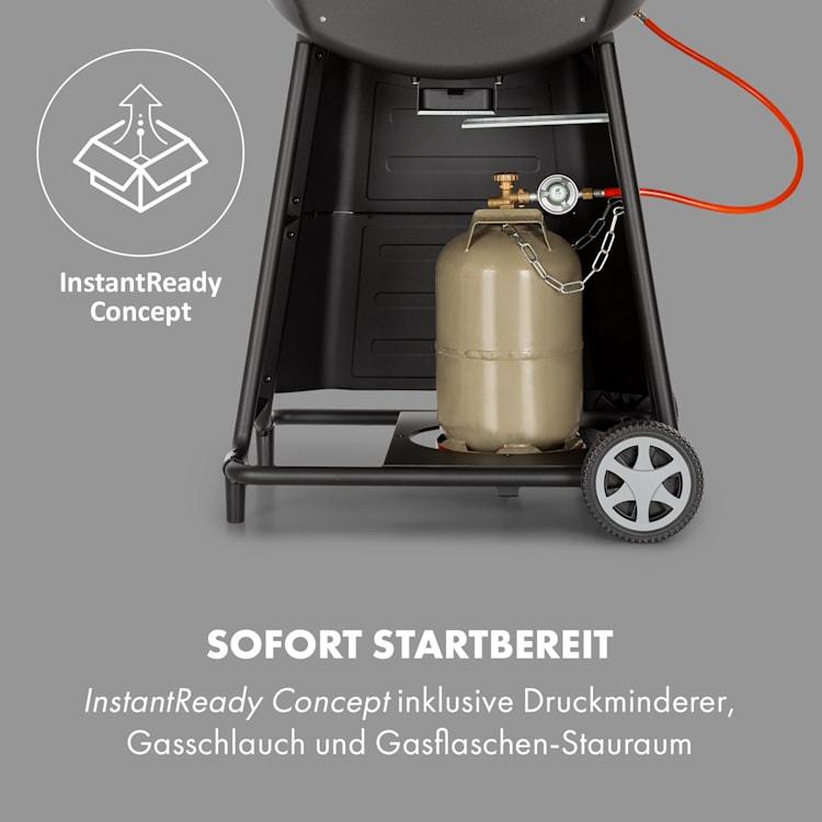 Vanquish Gasgrill 3 Edelstahlbrenner 9 kW (3 x 3 kW) 63,5 x 45 cm Grillfläche schwarz