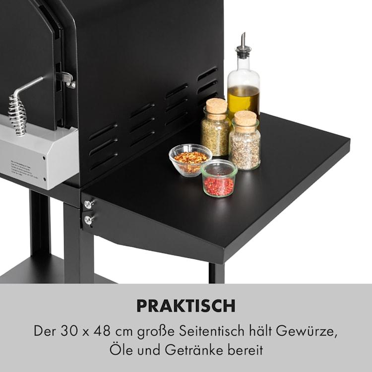 Pizzaiolo Pro Pizza-Gasgrill 76x143x66cm Schamottestein Stahl mobil
