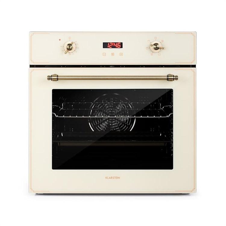 Elizabeth, beépíthető sütő, retro dizájn, 6 funkció, 50 - 250 ° C, krém színű Krémszín