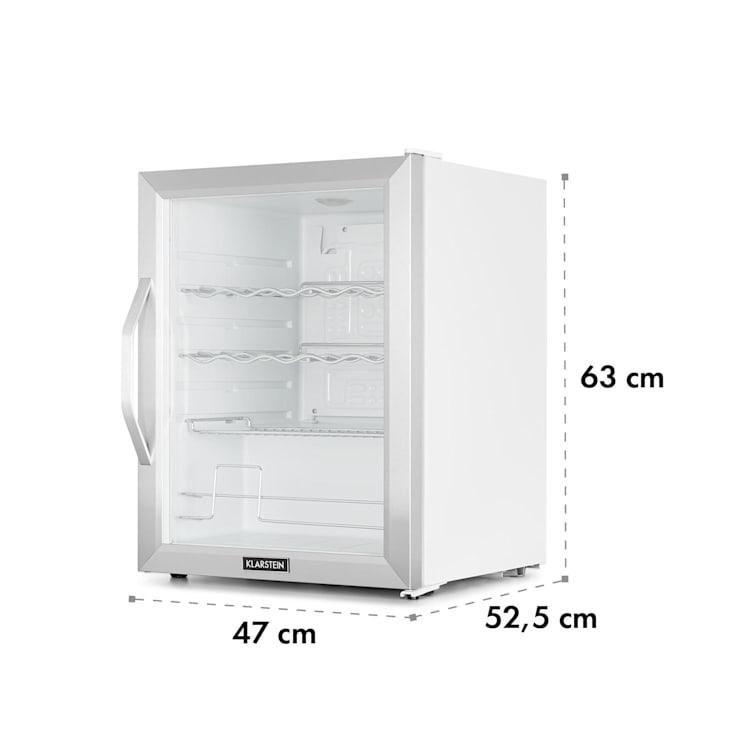 Beersafe XL Crystal White, chladnička, A++, 60 l, LED, sklenené dvere, biela/strieborná Biela / Strieborná   60 litrov