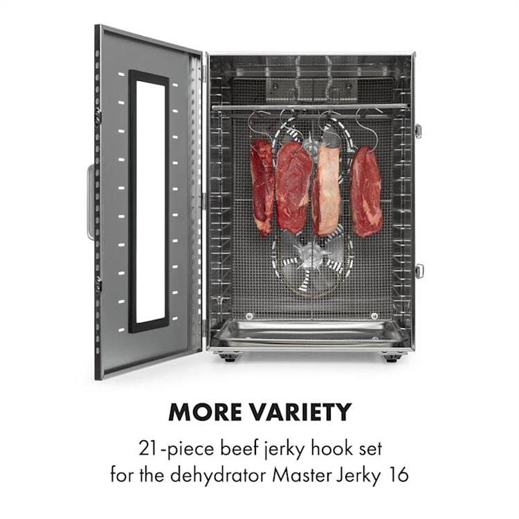 Master Jerky 16 set di ganci 21 pezzi telaio ganci acciaio inox
