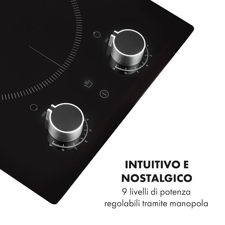 Kochheld Piano Cottura a Induzione Doppio 2900W Manopola Vetro nero 2
