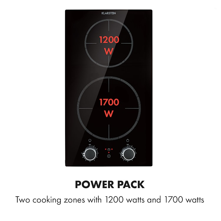Kochheld Double Induction Hob 2900W Rotary Control Glass Black 2