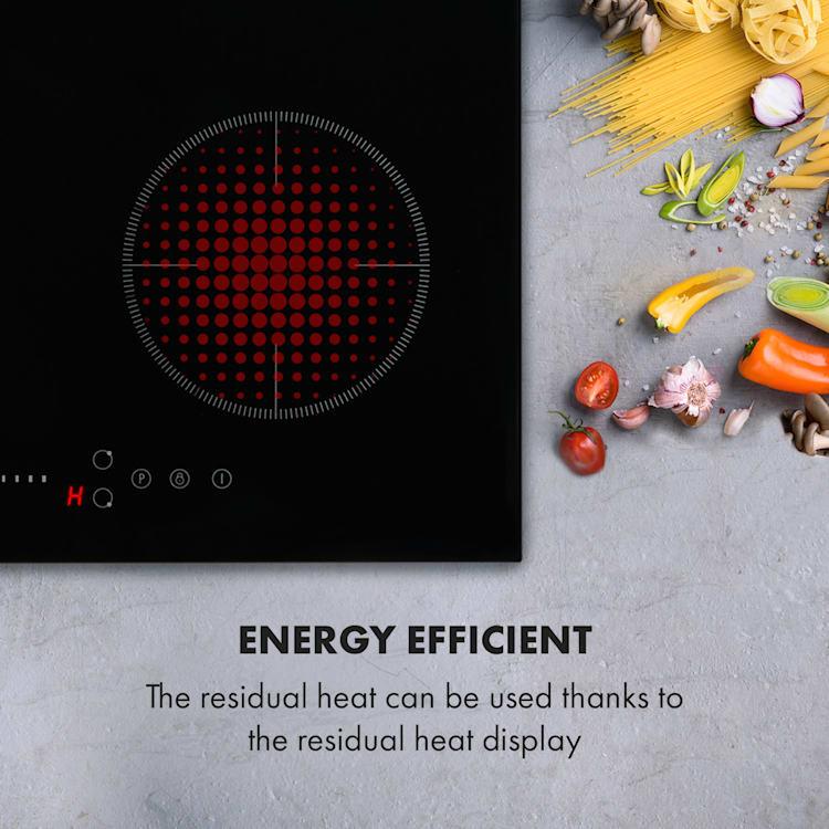Virtuosa EcoAdapt Piano Cottura a Induzione a 4 Zone 7200W Vetro nero