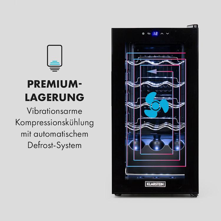 Shiraz 15 Slim Uno Weinkühlschrank 44l Touch-Bedienfeld 135W 5-18°C 44 Liter / 15 Flaschen