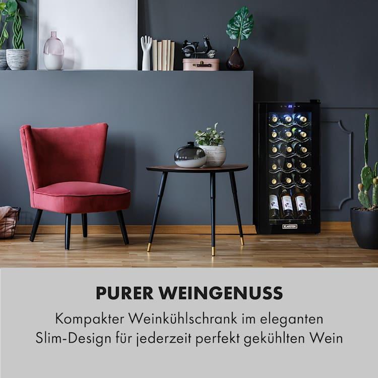 Shiraz 18 Slim Uno Weinkühlschrank 50l 18Fl Touch-Bedienfeld  138W 5-18°C 50 Liter / 18 Flaschen