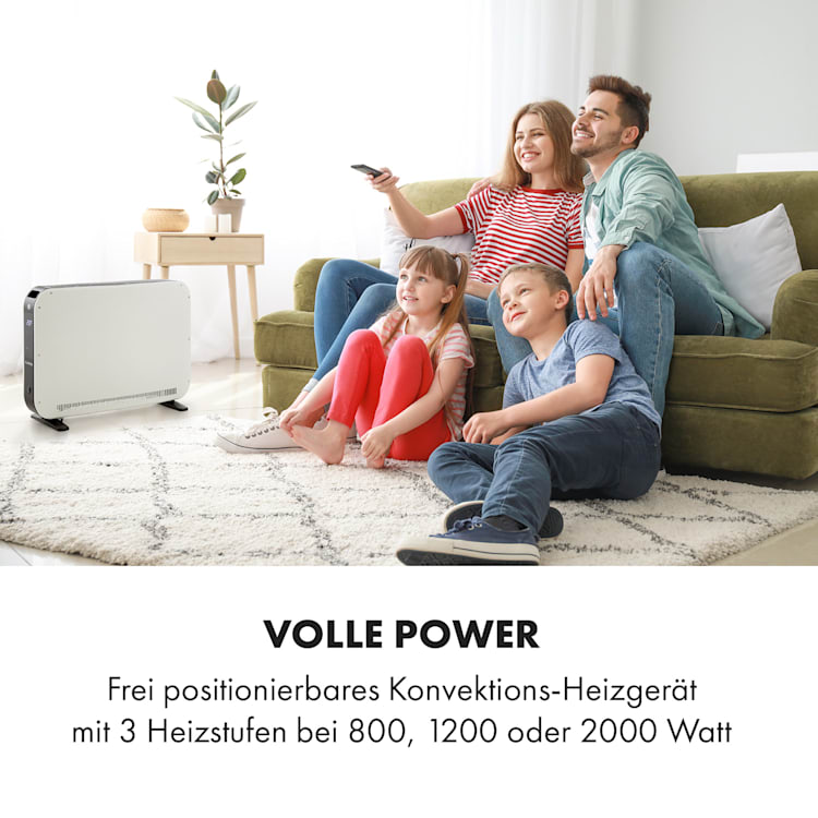 Baltrum Elektroheizung Konvektor 2000 W Standgerät Ohne Turboventilator