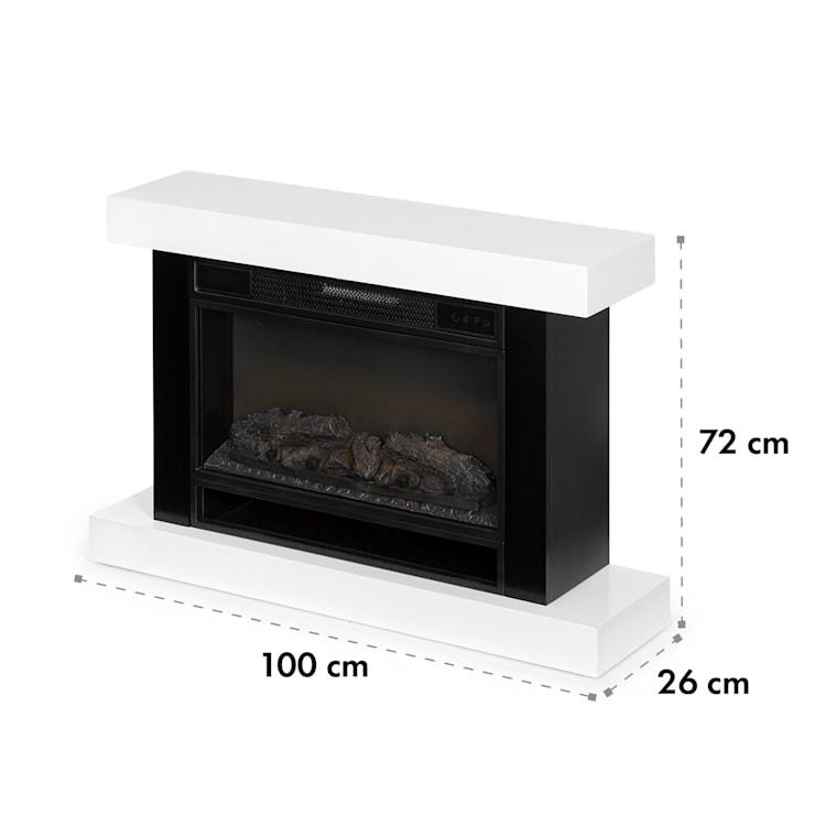 Vulsini Hideaway cheminée électrique 1900 W technologie LED télécommande blanche Corps de cheminée au look studio