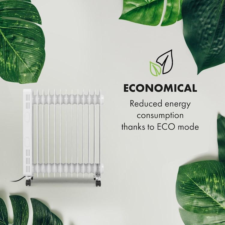 Thermaxx Heatstream, olejový radiátor, 2500 W, 5 – 35 °C, 24-hod. časovač, biely Biela