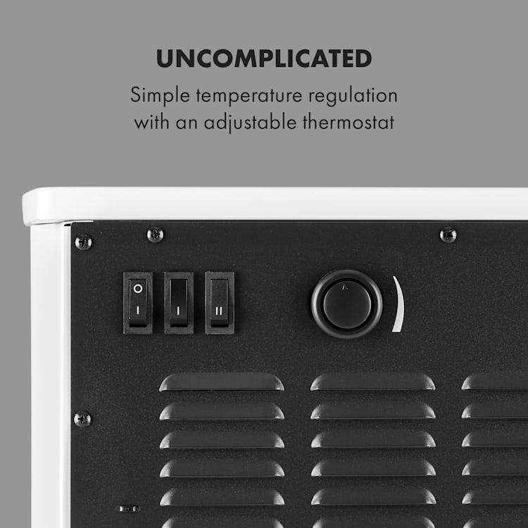 Bormio Panorama, elektrický krb, 1000/2000 W, termostat, bílý Bílá