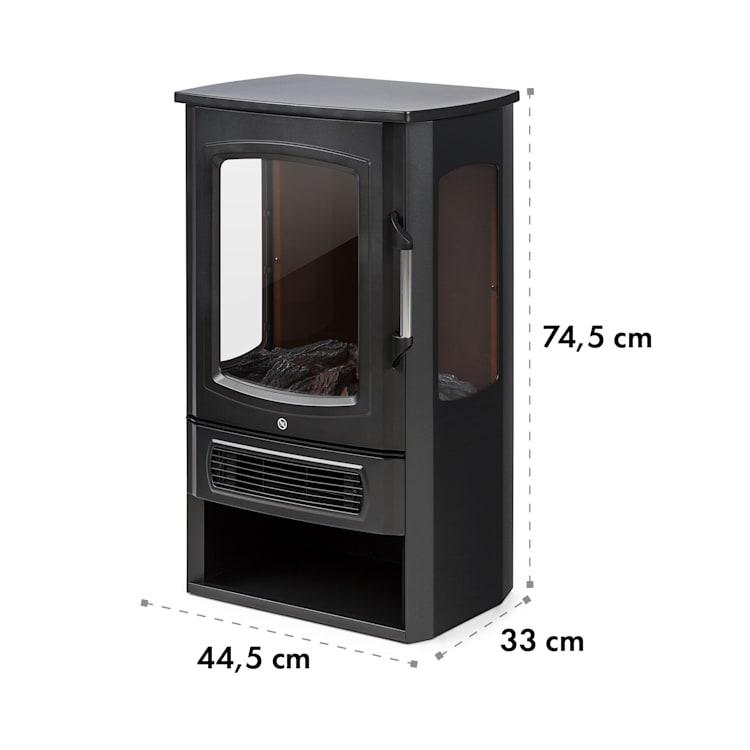 Bormio Panorama, elektrický krb, 1000/2000 W, termostat, čierny Čierna
