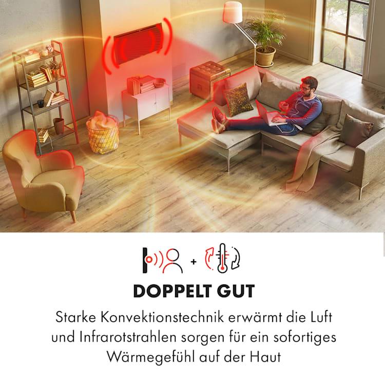 Hot Spot Slimcurve Double Wave 2-in-1 Heizgerät 2000W Wochentimer Stahlblech Schwarz | 2000 W