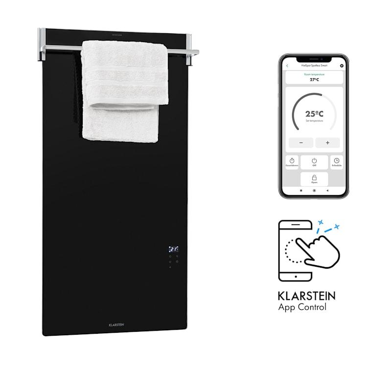 Hot Spot Crystal Spotless Smart, infračervený ohrievač, 750 W, aplikácia, čierny Čierna