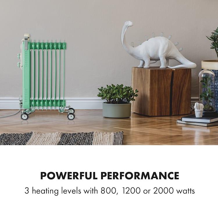 Thermaxx Retroheat, olejový radiátor, 2000 W, kolieska, zelený Zelená